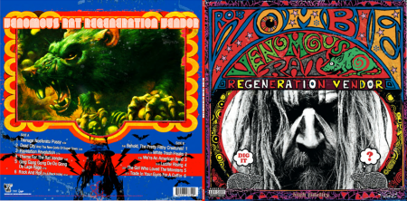 Rob Zombie - front:back covers - Venous Rat Re-Vendor