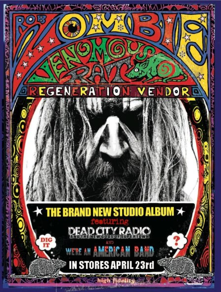 Rob Zombie - Venous Rat Regeneration Vendor - poster promo