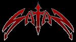 Satan - classic logo - red