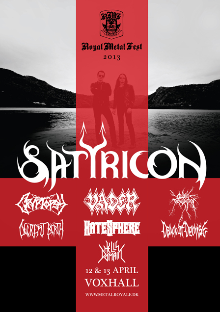 Satyricon - Royal Metal Fest - 2013 - Flyer #2