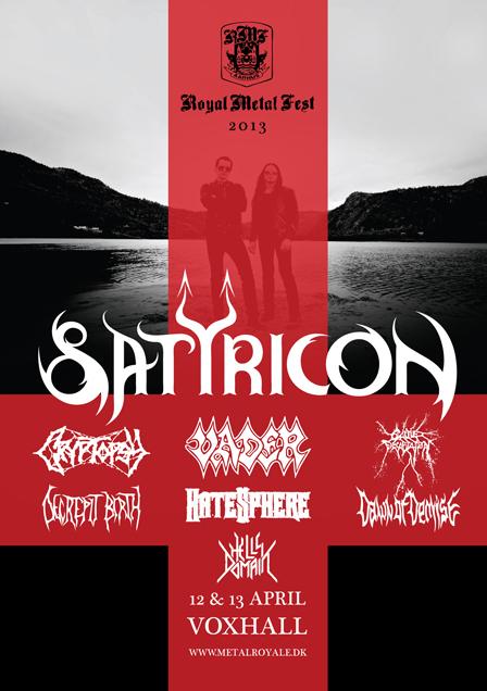 Satyricon - Royal Metal Fest - 2013 - Flyer #2
