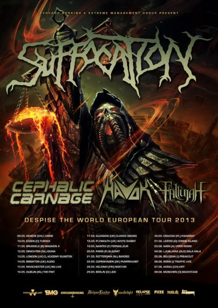 Suffocation - Despise The World - Europe Tour Poster - 2013