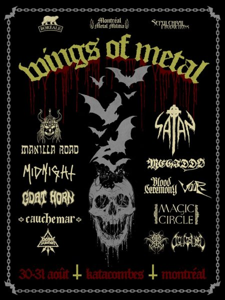 Wings Of Metal - promo concert flyer - 2013 - Satan