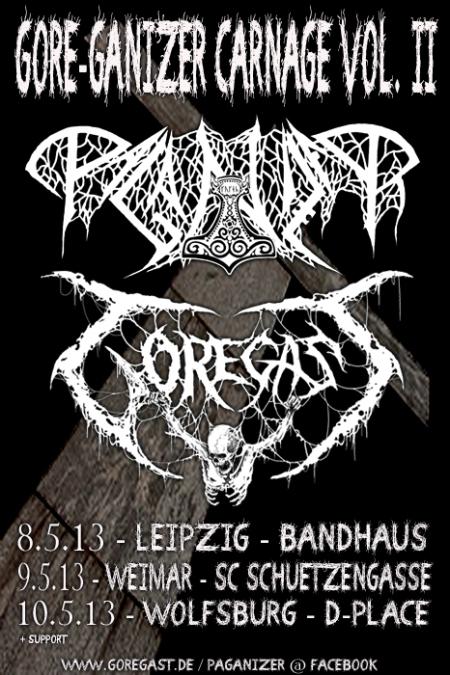 Goregast - concert flyer - 2013 - #1