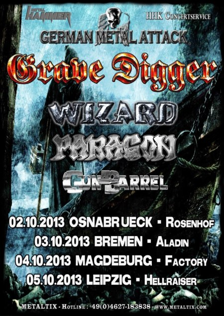 Grave Digger - German Metal Attack - promo flyer - 2013