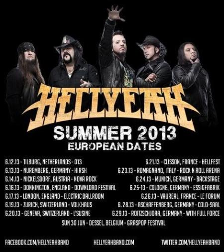 HellYeah - European Tour Flyer - promo - 2013