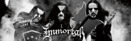 Immortal - Group Promo Banner - Logo - B&W