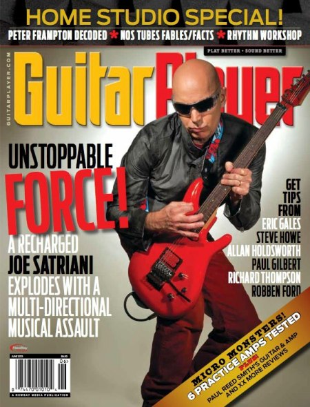 Joe Satriani - Guitar Player - Promo Cover Pic - 2013