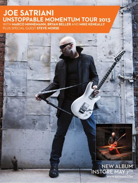 Joe Satriani - Promo Flyer - Unstoppable Momentum