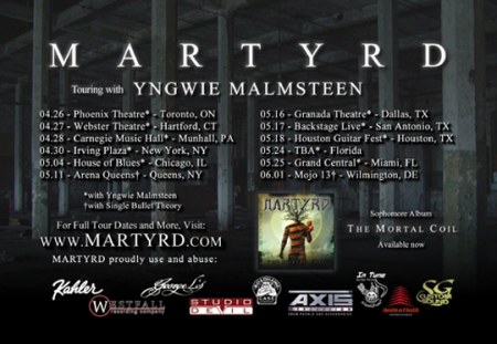 Martyrd - Tour Dates - Promo Flyer - 2013