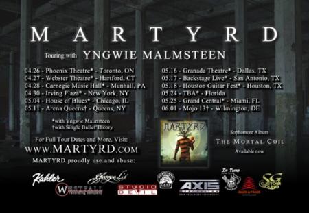 Martyrd - Tour Dates - Promo Flyer - 2013