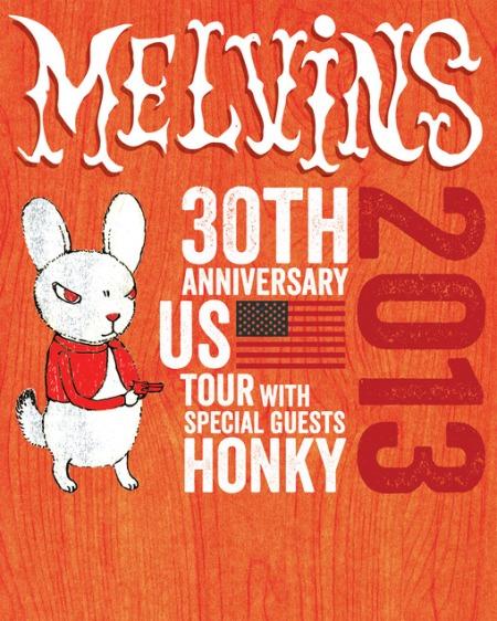 Melvins - 30th Anniversary Tour - promo flyer - 2013