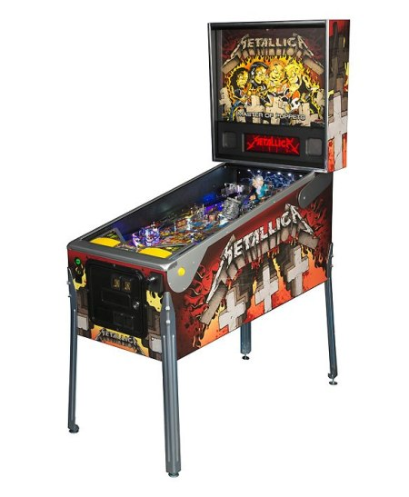Metallica - pinball machine - promo pic - 2013