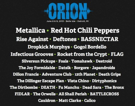 Orion - Music And More - Band Lineup - 2013