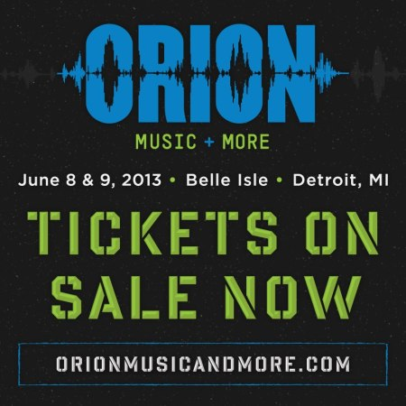 Orion - Music + More - promo flyer - 2013