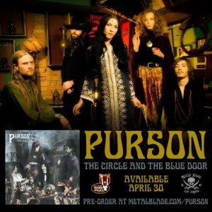 Purson - The Circle And The Blue Door - promo flyer