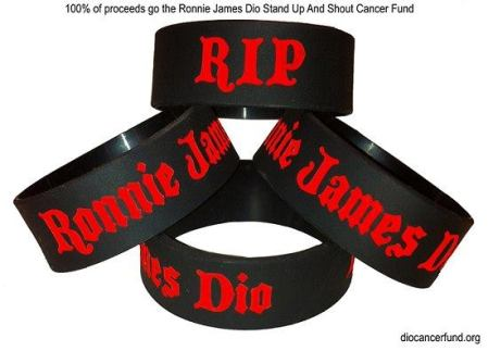 Ronnie James Dio - wrist band - cancer fund donation - promo