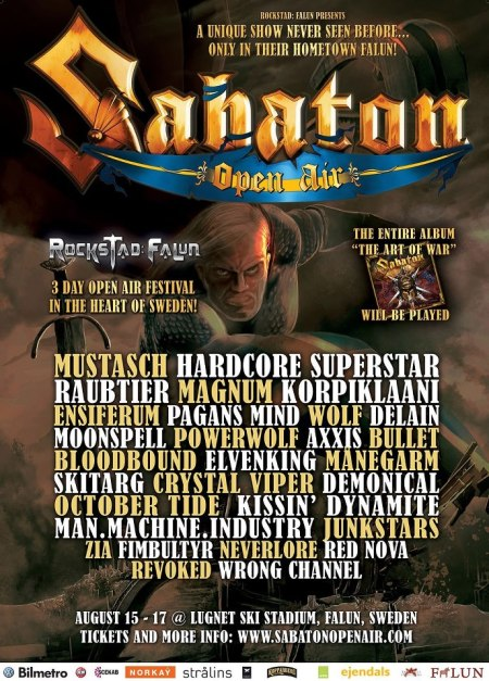 Sabaton - Open Air - 2013 - promo flyer