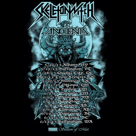 Skeletonwitch - Canadian Tour Dates - 2013 - promo flyer