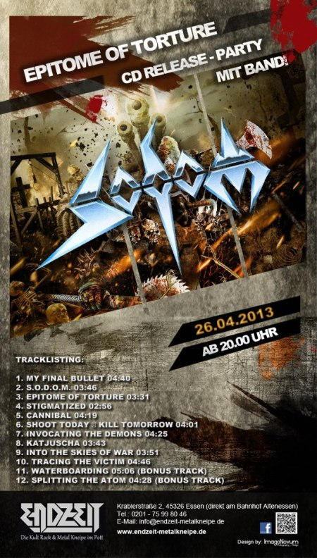 Sodom - CD release party - promo flyer - 2013