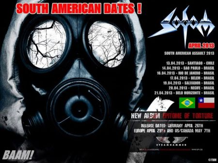 Sodom - South American Tour - promo flyer - 2013