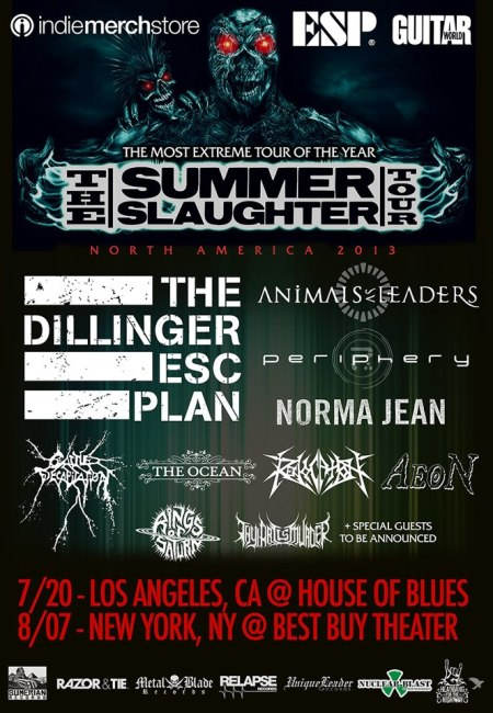The Summer Slaughter Tour - promo flyer - 2013 - #1
