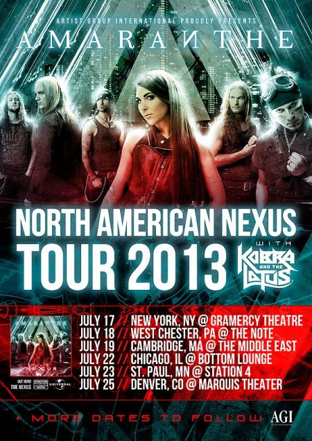 Amaranthe - North American Tour - promo flyer - 2013 - #1