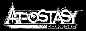 Apostasy Records - large logo - B&W