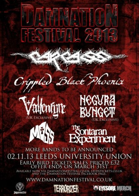 Damnation Festival - 2013 - promo flyer