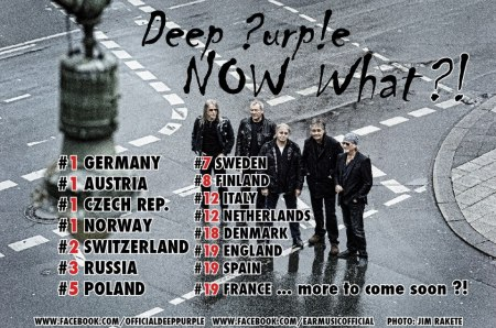 Deep Purple - Now What?! - Europe Chart Positions