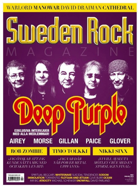 Deep Purple - Sweden Rock - magazine cover promo