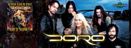 Doro - group - raise your fist - promo banner - 2013