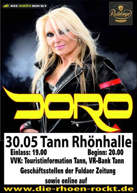 Doro - Tann Rhonhalle - promo flyer - 2013
