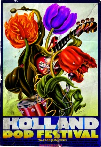 Holland Pop Festival - 1970 - concert flyer - promo