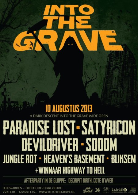 Into The Grave - promo flyer - 2013 - Aug - Satyricon - Sodom