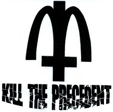 Kill The Precedent - large logo - B&W