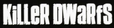 Killer Dwarfs - large band logo - B&W