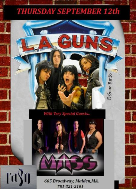 L.A. Guns - Mass - concert flyer - September - 2013