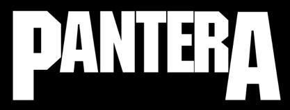 Pantera - large band logo - B&W - #4