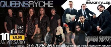 Sabrina Sabrok - Queensryche - concert banner flyer - june 2013