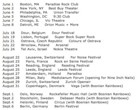 Tomahawk - Tour Dates - 2013 - #6