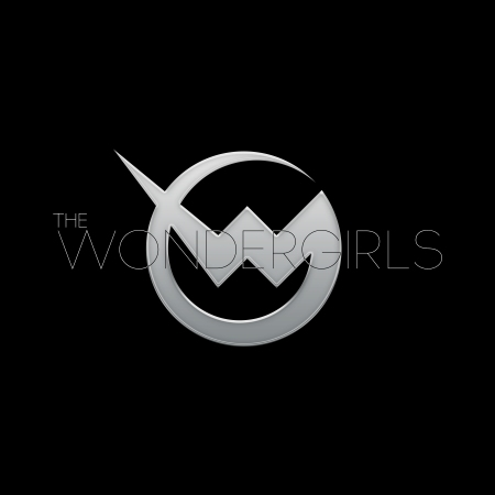 Wondergirls - large logo - silver & black