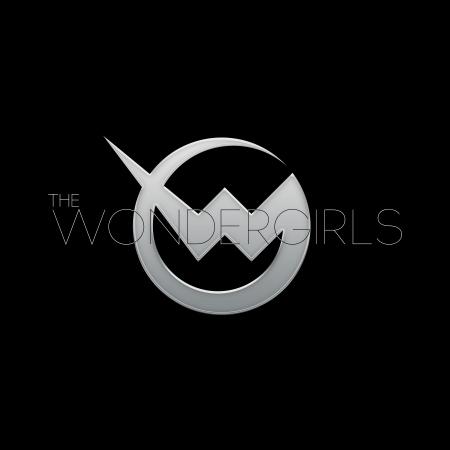 Wondergirls - large logo - silver & black