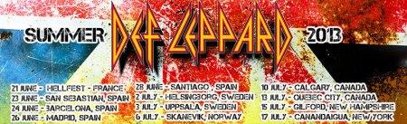 Def Leppard - Summer Tour 2013 - promo banner