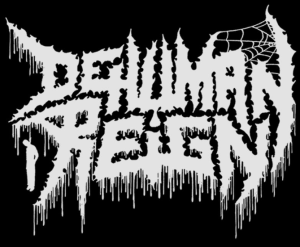 Dehuman Reign - large band logo - B&W