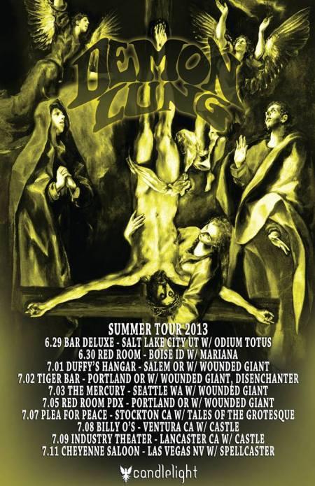 Demon Lung - West Coast US - Tour Promo Flyer - 2013