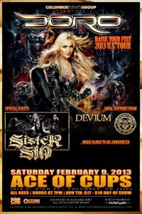Doro - Ace Of Cups - promo flyer - february - 2013
