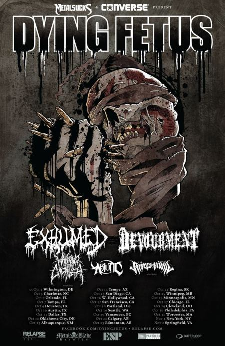Dying Fetus - tour promo flyer - 2013