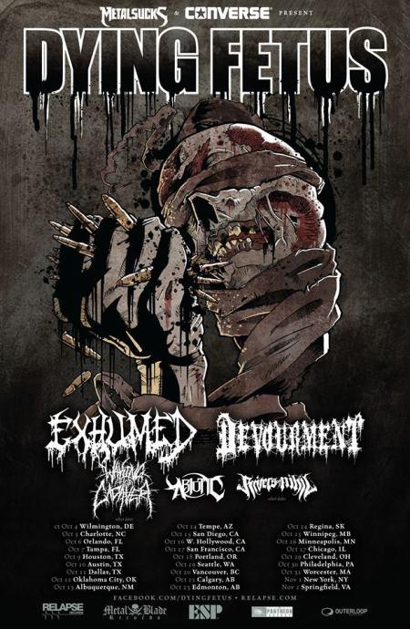 Dying Fetus - tour promo flyer - 2013