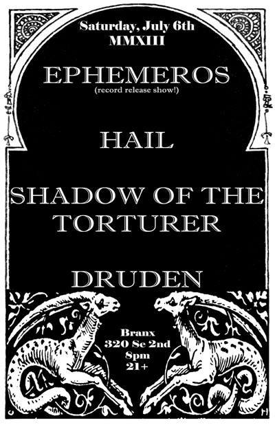 Ephemeros - record release - promo flyer - july - 2013